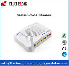 4 LAN PORTS VOIP WIFI USB Available Triply Play GEPON ONT