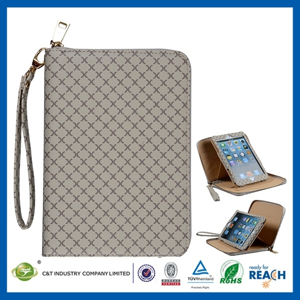 New Sublimation leather folio card holder case for ipad mini