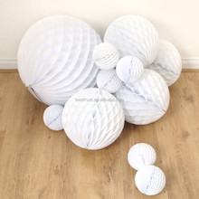 2016 high quality Wholesale Chinese paper flowers ball round paper lanterns tissue paper honeycomb balls for wedding decorations