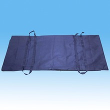 Waterproof dispoable medical dark blue body bag with six handles
