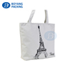 Fashionable style natural 100% colored cotton tote handle shopping bag