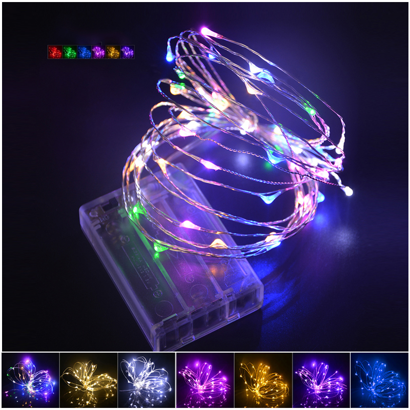 3*AA Battery Powered Fairy Christmas Tree Holiday Party Decoration LED Strip lighting 20LEDs 2M LED Copper Wire String lights