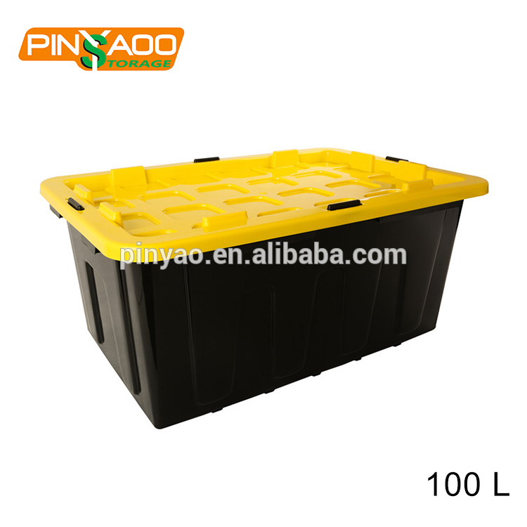 Pinyaoo directly factory eco-friendly industrial plastic container 27 gallon plastic tote