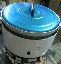 Chinese use advanced biogas rice cooker for 14 people eat, biogaselectric rice cooker