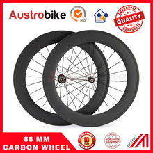 Full carbon wheel 88mm clincher Tubeless Road bike glossy matte UD/3K/12K carbon