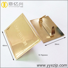 Best selling crafts golden custom metal logo for jewelry metal logo plate