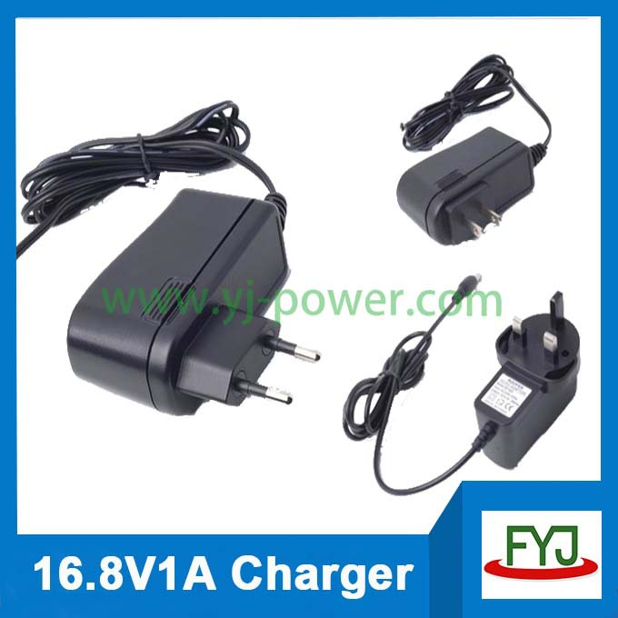 16.8v 1a 14.8v 1a universal charger for power tool battery EU US UK SAA plug YJP-168100