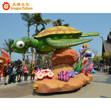 Hot sales Custom Parade Floats Tortoise Decorated Vehicle in Parade Park Equipment