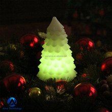 Christmas tree shape led candle christmas candle