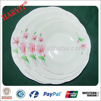 Wholesale Cheap Price White Tableware Dinner Plates Soup Plate Porcelaine For Malaysia Restaurant