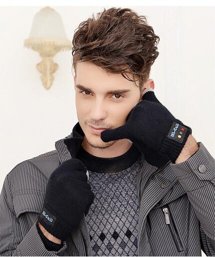 amazon ebay wool knitting iphone gloves touch screen bluetooth 3.0 hand gloves