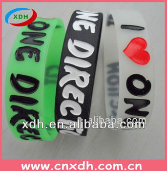 I lOVE ONE DIRECTION Cool Silicone Wristband