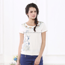 2015guangzhou beautiful girl cotton t-shirt