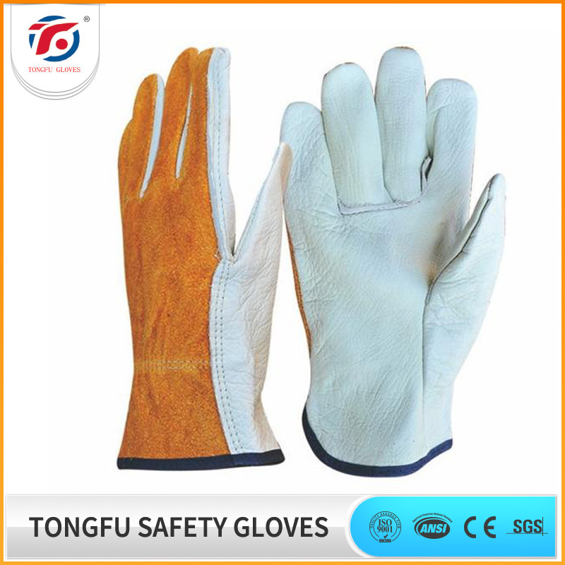 Top quality Cow Grain Leather Motorcycle Rigger Gloves With Different Color