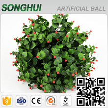 best quality long leaf artificial hanging topiary balls for christmas