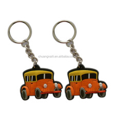 high quality cheap promotional fashion motor cycle rubber soft pvc key ring
