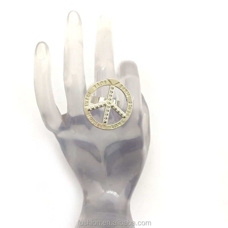 China Wholesale Fashion Elegant Woman Casual Wear stainless steel Round Ring