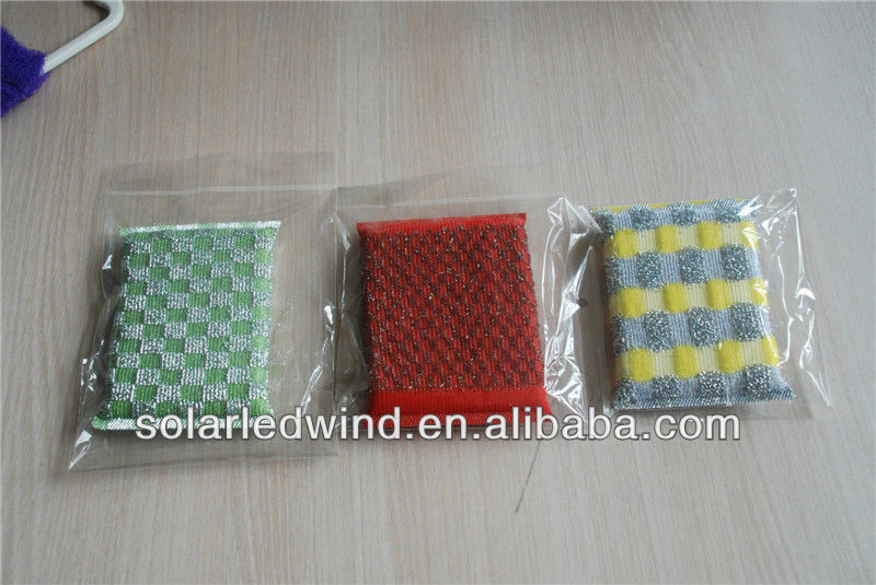 Kitchen cleaning scouring pad machine