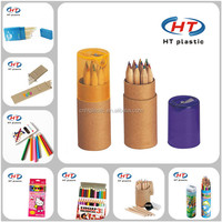 2016 Gold Supplier Hot Sales For School Children Imprint Customized Logo Wooden Color Pencil/Color Pencil/Pencil