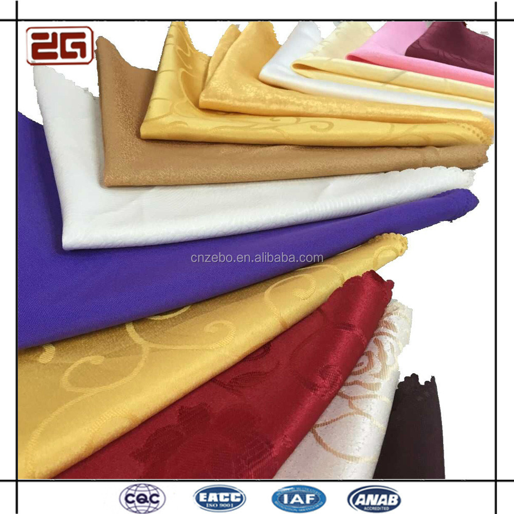 China Wholesale Multi-colorful Folded Cotton /Polyester Napkins for Weddings