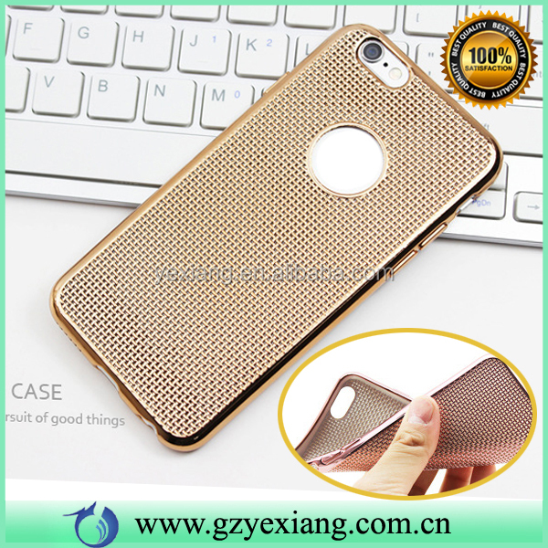 Hot Product Soft Back Cover Electroplating TPU Case For Iphone 6S Gold