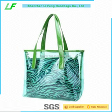 Women Transparent PVC Beach Handbag Tote Shoulder Bag with Small Cosmetic bag