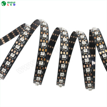 Smd 2427 144leds mini flexible sk6812 dc5v rgb dream color led strip with connector