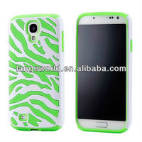 Dual Layer Zebra Hybrid Soft Silicone Hard PC Case for Samsung Galaxy S4 i9500
