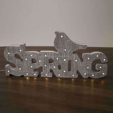 New style christmas alphabet light mdf christmas wooden letters for crafts