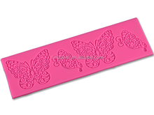 Butterfly designed flexible mold silicone for the cakes lace