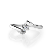 Perfect jewelry fashion simple design silver ring with cz wedding rings for women