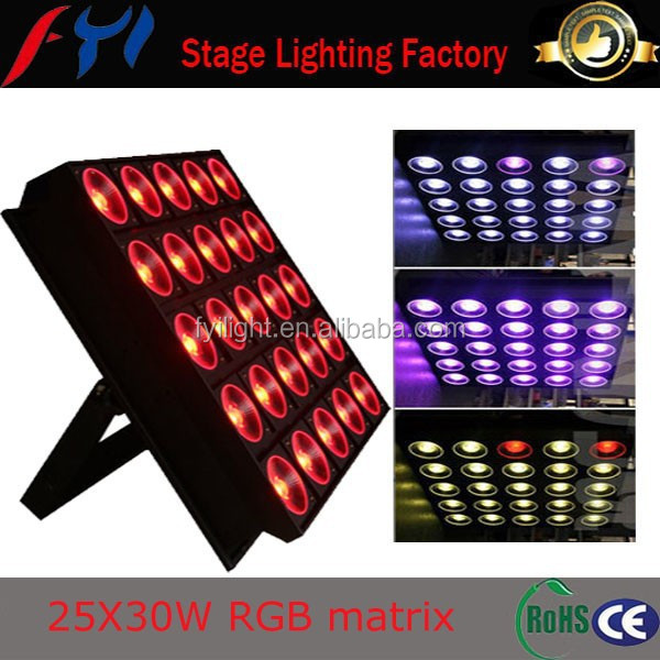 Concert light 3in1 disco 750w 5x5 matrix 30w led