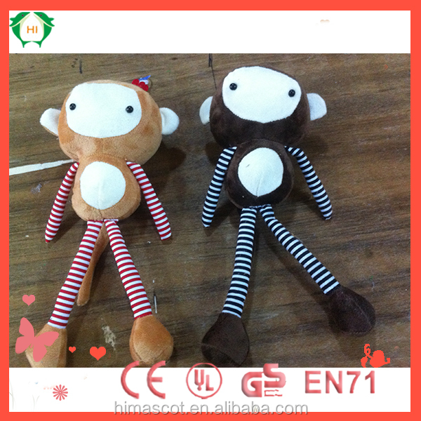 HI CE certificate soft toys raw materials small soft toys cheap long legs monkey