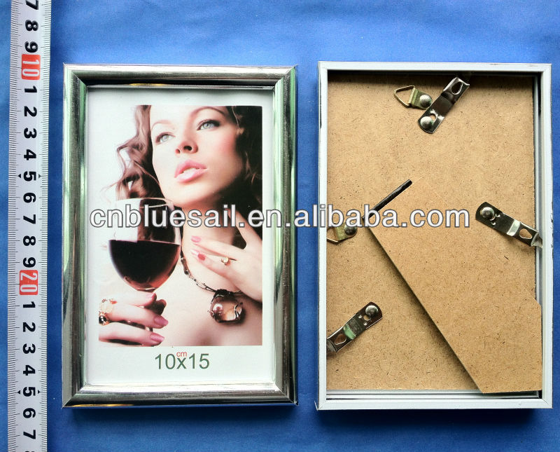 10x15 silver photo frame, plastic photo frame wholesale