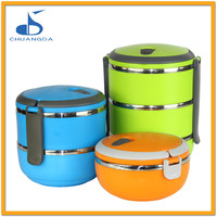 stainless steel food warmer storage container with divider