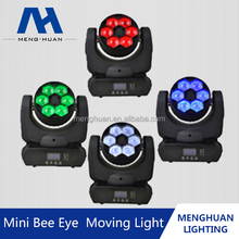New style 15W 6pcs led 4in1 RGBW bee eye mini led beam moving head light