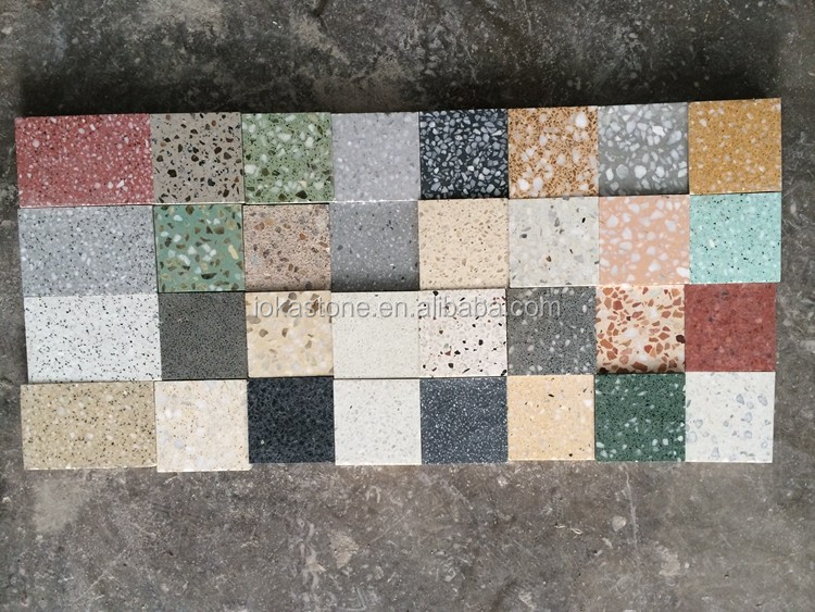 big cementitious terrazzo slabs for wall floor decoration