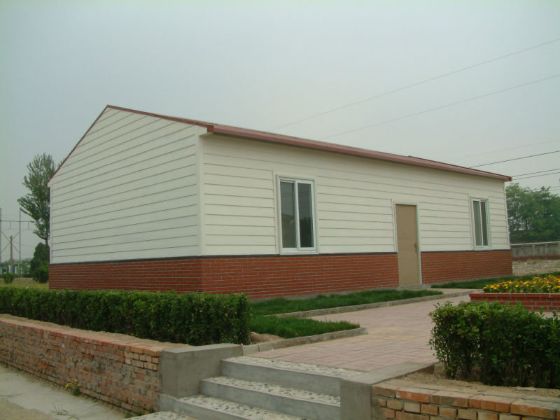 temporary light steel prefab house for earthquake settletment