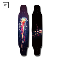 Professional Carbon Fiber Skateboard with Jellyfish Printing