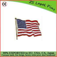 Free artwork design personalized high quality Lapel Pin United States Flag