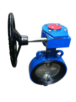 Worm Gear Operated Wafer Type Butterfly Valve DN150 (6'')