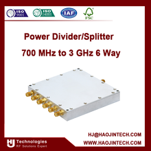 700 MHz to 3 GHz sma/n Power Divider/Splitter 6 Way
