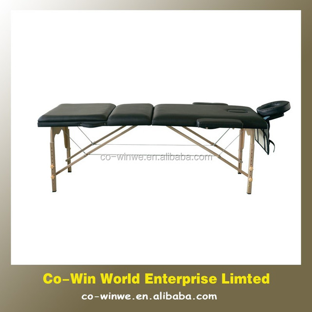 Cheap PVC leather Portable Folding solid wood Manipulative Facial Treatment Massage Bed