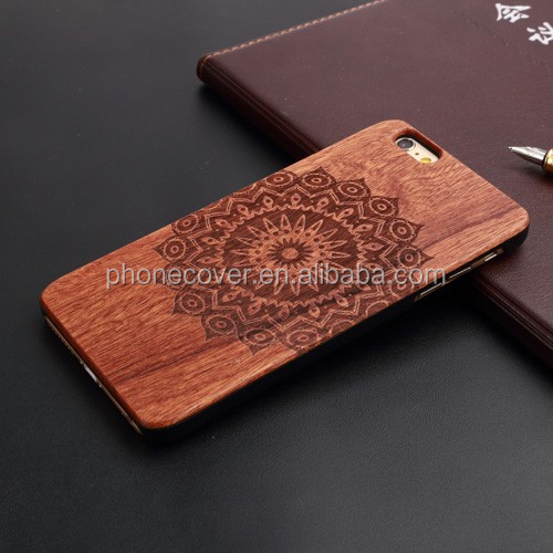 engrave rose wooden cell phone cases for iphone 5S,mobile phone accessories
