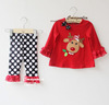brand new baby girls clothing sets wholesale kids boutique clothes cute baby christmas outfits