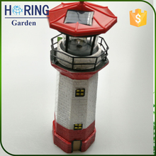 Solar Lighthouse light with Rotating Beacon light decoration