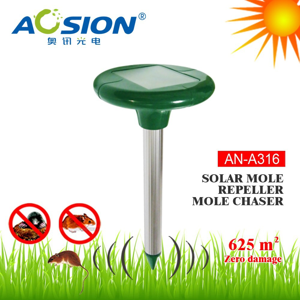 Aosion best quality yard solar power mouse rodent repeller for Best quality garden tools