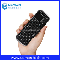 2.4G IR remote controller Handheld Wireless Keyboard with Touchpad for TV BOX
