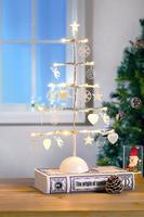 Holiday Tabletop Decorative LED Metal Christmas Stand Light