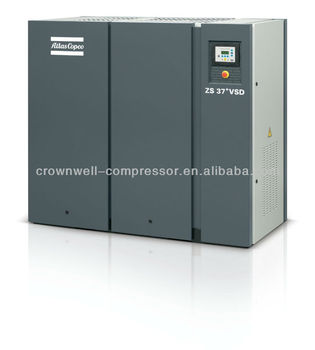 Atlas Copco Oil-free Variable Speed screw Air Compressor Model ZS37+VSD, ZS45+ VSD, ZS55+VSD, ZS75+VSD, ZS110+VSD, ZS160+VSD